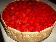 Ciasto truskawkowe z masą krówkową