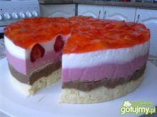 Ciasto truskawkowo-czekoladowe