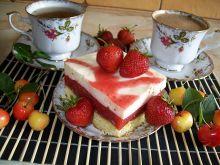 Ciasto truskawkowo-śmietanowe
