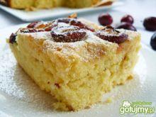 Ciasto ucierane na kefirze ze śliwkami