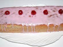 Ciasto ucierane o smaku wiśniowym