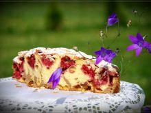 Ciasto ucierane z budyniem i owocami