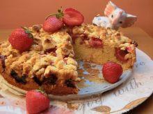 Ciasto ucierane z truskawkami i kokosem