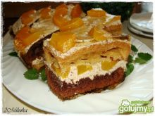 Ciasto w paski z orzechowym kremem