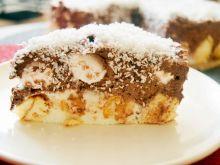 Ciasto waniliowo-czekoladowe na biszkoptach z bezą