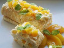 Ciasto Wojtka z brzoskwiniami