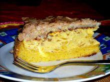 Ciasto z ananasami i beza kokosowa