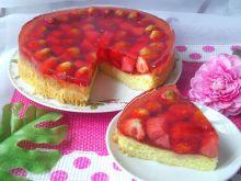 Ciasto z arbuzem, truskawkami i galaretką