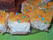 Ciasto z białą czekoladą i orange curd