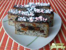 Ciasto z białek z makiem i pierniczkami