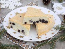 Ciasto z białek z suszoną aronią