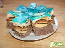 Ciasto z biszkoptami i galaretką