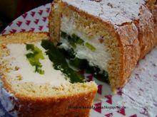 Ciasto z bitą śmietaną i galaretką