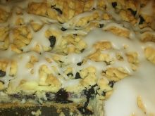 Ciasto z borówkami i masą budyniową