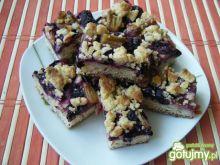 Ciasto z borówkami i rabarbarem