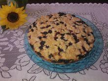 Ciasto z borówkami mieszane łyżką