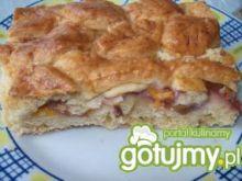 Ciasto z brzoskwianiami i jabłkami
