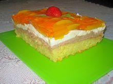 Ciasto z brzoskwiniami i kremem