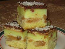Ciasto z budyniem i jabłkami 3