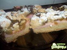 Ciasto z budyniem i rabarbarem