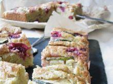 Ciasto z cukinią i malinami-bez miksera