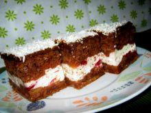 Ciasto z czekoladą i wiśniami