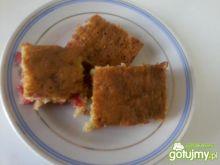 Ciasto z czerwonych porzeczek