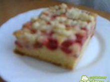 Ciasto z czerwonym agrestem i kruszonką