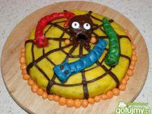 Ciasto z dynią dekorowane masą cukrową