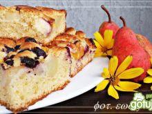 Ciasto z gruszką, nektarynką i borówką