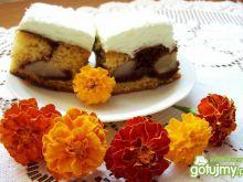 Ciasto z gruszkami z galaretką