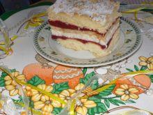 Ciasto z herbatnikami i musem owocowym