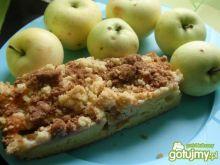 Ciasto z jabłkami i kolorową kruszonką