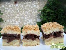 Ciasto z jabłkami, kakao i kokosem