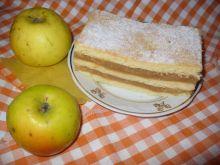Ciasto z jabłkami trzywarstwowe