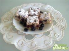 Ciasto z jeżynami wg Megg