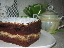 Ciasto z kakao i cappuccinową masą