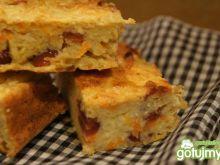 Ciasto z kaszą jaglaną i suszonymi owoca