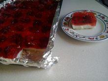 Ciasto z kaszy manny z galaretką bez pieczenia