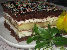 Ciasto z kokosowo budyniowym kremem