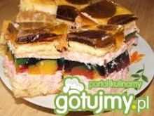 Ciasto z kolorową galaretką