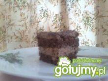 ciasto z kremem czekoladowym.
