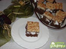 Ciasto z kremem czekoladowym i kokosem
