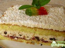 Ciasto z kremem i bakaliami