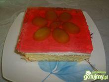 Ciasto z kremem i galaretką z winogronem