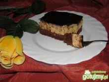 Ciasto z kremem sezamowym i żurawiną