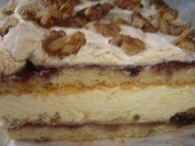 Ciasto z kremem śmetanowo jogurtowym i o