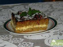 Ciasto z kremem z truskawkami