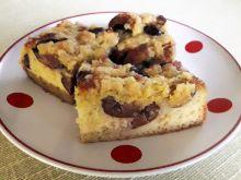 Ciasto z mąką jaglaną ze śliwkami z kompotu