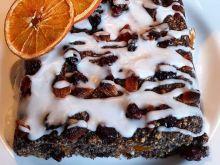 Ciasto z makiem i bakaliami - wegańskie